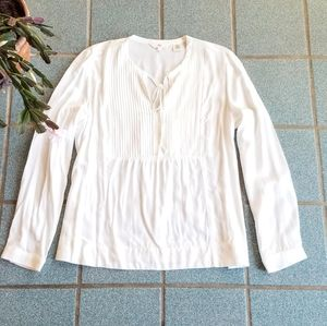 Levi's White Long Sleeve Peasant Top Shirt Size M